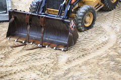 Excavation equipment. Site construction industry outdoor nobody Royalty Free Stock Images