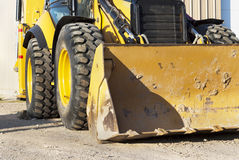 Excavation equipment. Industrial platform. Construction equipment on site Stock Images