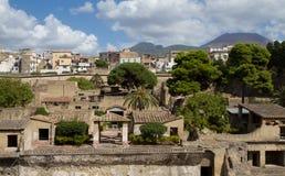 Excavation of Herculaneum. Campania, Italy Royalty Free Stock Photography