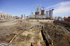 Excavation historique de Toronto Photos stock