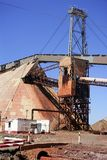 Excavation metal outdoor mine Riotinto Royalty Free Stock Photo