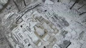 Excavation of an old orthodox temple stock video
