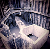 Excavation pit. Huge excavation pit  filled with water Royalty Free Stock Photo