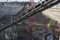 Excavation profonde Photos stock