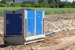 Excavation road pump Stock Photo