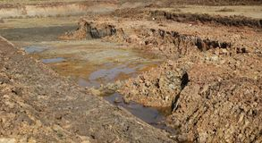 Excavation soil for building apartment building. At thailand stock photography