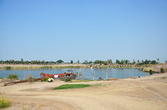 Excavation of the surface ground for Sale in Pathum Thani at Thailand Stock Photography