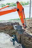 Excavation work Royalty Free Stock Photography