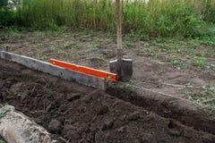 Excavation work on the farm Royalty Free Stock Photo