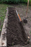 Excavation work on the farm Royalty Free Stock Photos