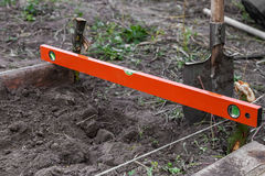 Excavation work on the farm Royalty Free Stock Image