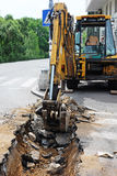 Excavation work Stock Photography
