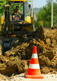 Excavation works Stock Image