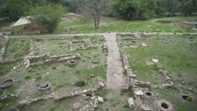 Archaeological site. Excavations of ancient archaeological site stock video