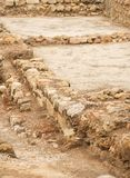 Excavations. Excavations of ancient archaeological structure Stock Photos