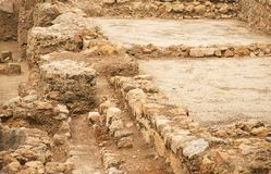 Excavations. Excavations of ancient archaeological structure Royalty Free Stock Photo
