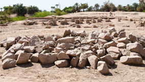 Excavations of ancient Ayla town in Aqaba city Stock Images