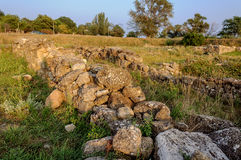 Excavations of the ancient city in Crimea Stock Photography