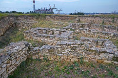 Excavations of the ancient city in Kerch Royalty Free Stock Image