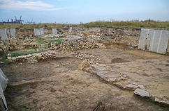 Excavations of the ancient city in Kerch Royalty Free Stock Photo