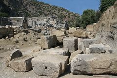 Excavations in ancient city of Myra Stock Images