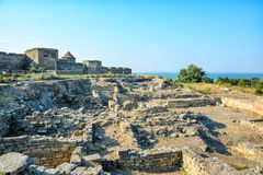 The excavations of the ancient city of Tyras. Stock Photos