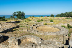 The excavations of the ancient city of Tyras. Stock Photo