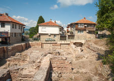 Excavations in the ancient Nessebar in Bulgaria Royalty Free Stock Images