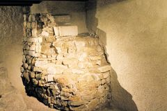 Excavations. Archaeological excavations in roman antique villa Stock Images