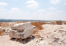 Excavations d'archéologie en Israël Photographie stock