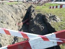 Excavations dans la ville photos stock