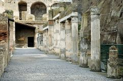 Excavations de Herculaneum, Naples, Italie photos libres de droits