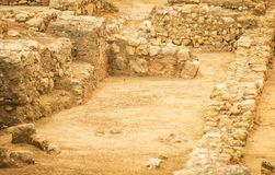 Excavations. Excavations of ancient archaeological site Stock Photo
