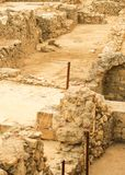 Excavations. Excavations of ancient archaeological site Royalty Free Stock Photos