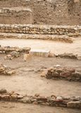 Excavations. Excavations of ancient archaeological structure Stock Photo