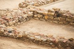 Excavations. Excavations of ancient archaeological structure Royalty Free Stock Photos