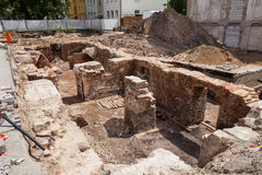 Excavations, Frankfurt (Oder) Stock Photo