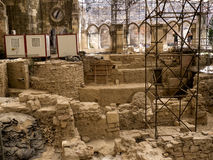 Excavations in the Patriarchal Cathedral of St. Mary Major or Lisbon Cathedral Stock Image