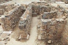 Excavations at Phaistos in Crete royalty free stock photos