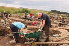 Excavations at Roman Vindolanda Royalty Free Stock Image