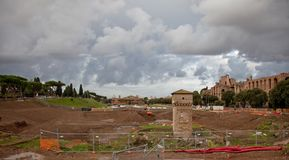 Excavations in Rome Royalty Free Stock Photo