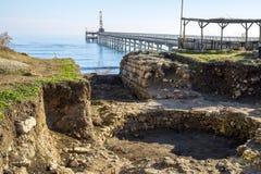 Excavations sur la Mer Noire Images libres de droits