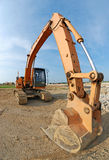 Excavator. In the construction site Stock Photography
