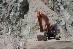 Excavator. Big excavator or digger on a building site Stock Image