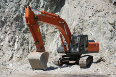 Excavator. Big excavator or digger on a building site Royalty Free Stock Photography