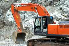 Excavator. Big excavator or digger on a building site Royalty Free Stock Photos