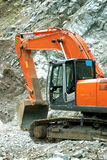 Excavator. Big excavator or digger on a building site Stock Images
