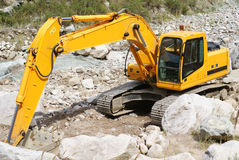 Excavator. Or digger on a building site Royalty Free Stock Photo