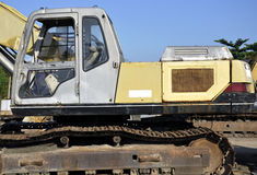 Excavator. Shot at a heavy duty vehicle park Royalty Free Stock Photos