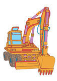 Excavator. Most similar model of excavator Stock Images